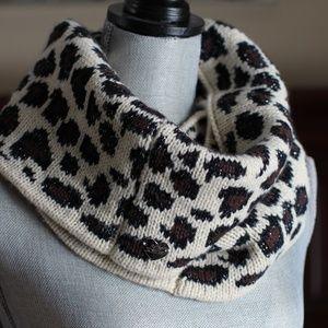 Betsey Johnson Leopard Knit Scarf